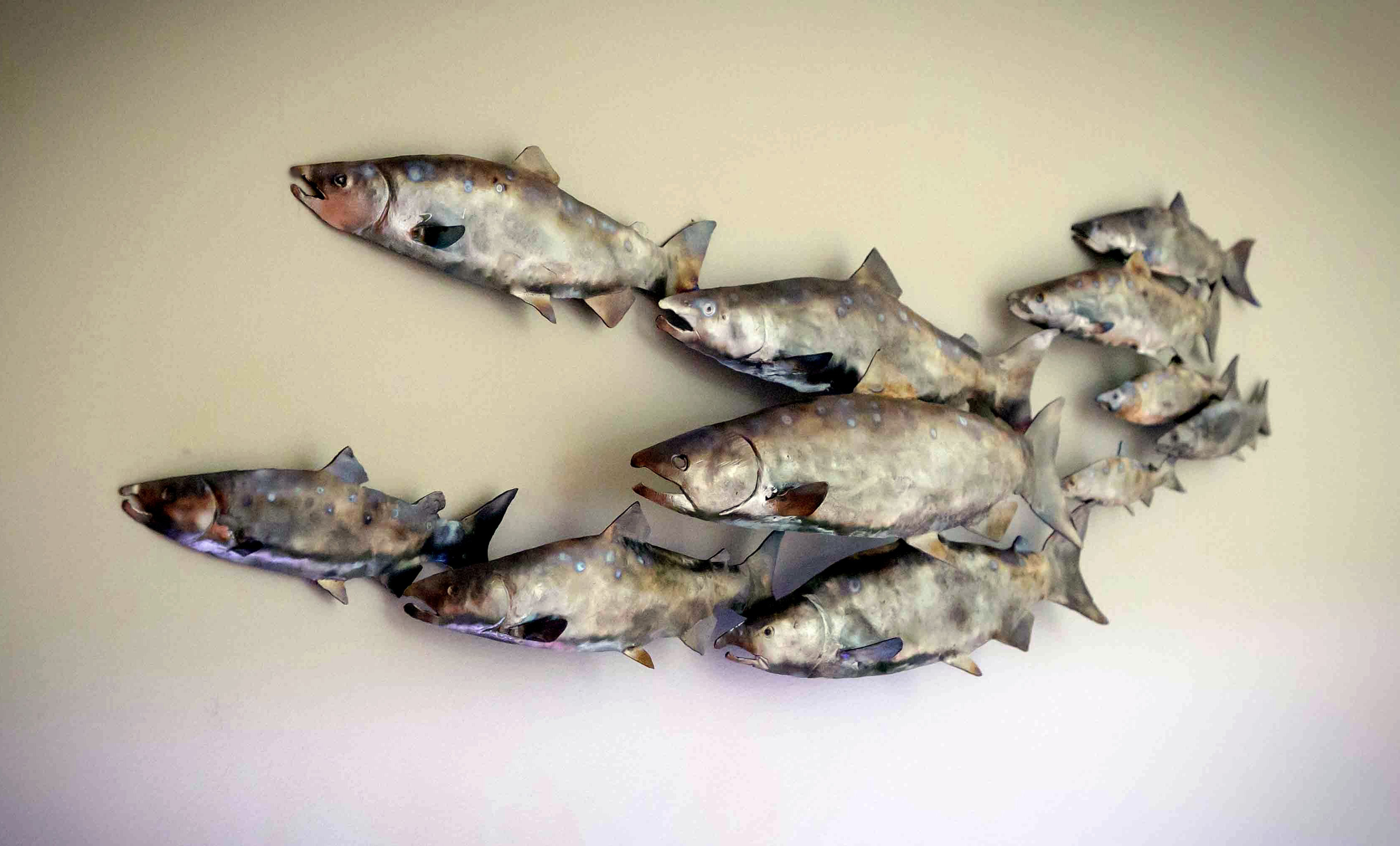 Metal art by art domer click on picture to enlarge for Metal fish art