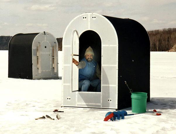 Fishing earl senchuk for Ice fishing huts for sale